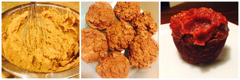 Coconut Flour Apple Muffins