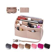 Image result for Purse Organizer Insert, Felt Bag organizer with zipper, Handbag & Tote Shaper, For Speedy Neverfull Tote, 5 Sizes